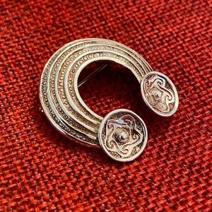 Exquisite Sterling Silver Celtic Brooch Pin
